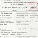 État de service de Stanislas Thiffault