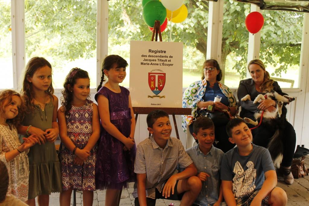 Les enfants prêts pour le lancement (c) Kyle Scott pour Les Tifault d'Amérique, 2017